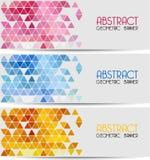 Fundo geométrico retro abstrato molde Ilustração Stock