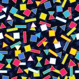 Fundo geométrico retro do teste padrão 80s Fotos de Stock Royalty Free