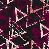 Fundo geométrico sem emenda do sumário com textura rachada Teste padrão do Grunge para meninos, meninas, esporte, forma Wallpa co ilustração stock