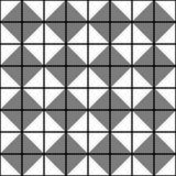Fundo geométrico sem emenda do teste padrão da textura - preto e branco Fotos de Stock Royalty Free