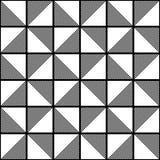 Fundo geométrico sem emenda do teste padrão da textura - preto e branco Imagens de Stock Royalty Free