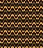 Fundo geométrico sem emenda do teste padrão de Art Deco da onda do ouro Imagens de Stock Royalty Free