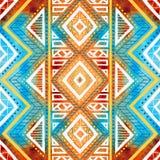 Fundo geométrico sem emenda Textura da aquarela do Grunge Imagem de Stock Royalty Free