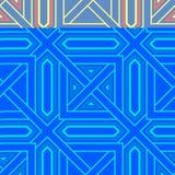 Fundo geométrico Teste padrão sem emenda azul Imagens de Stock Royalty Free