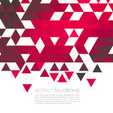 Fundo geométrico vermelho abstrato com triângulo Ilustração do Vetor