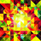 Fundo geométrico colorido abstrato do Grunge Fotografia de Stock Royalty Free