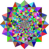 Fundo geométrico das ilusões Imagens de Stock