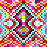 Fundo geométrico sem emenda colorido brilhante pequeno dos polígono Imagem de Stock