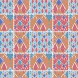 Fundo geométrico sem emenda da textura do teste padrão dos retalhos com r Fotos de Stock Royalty Free