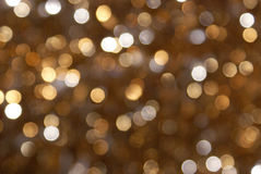 Fundo Glittery do borrão do ouro Fotografia de Stock Royalty Free