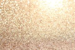 Fundo glittery do ouro fotos de stock