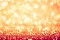 Fundo glittery dourado do feriado do bokeh imagens de stock