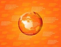 Fundo global alaranjado ilustração royalty free