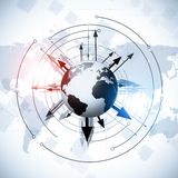 Fundo global do mundo empresarial Fotografia de Stock Royalty Free