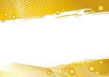 Fundo gráfico dourado com área branca Fotografia de Stock Royalty Free