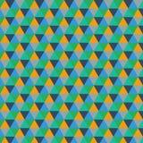 Fundo gráfico triangular geométrico multicolorido ilustração do projeto do vetor Imagens de Stock Royalty Free