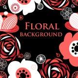 Fundo gráfico vívido floral ilustração royalty free