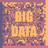 Fundo grande do conceito da ilustração do vetor de dados visualization Fotografia de Stock