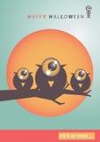 Fundo grande eps10 da arte de Dia das Bruxas do olho Imagens de Stock