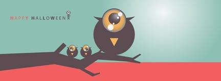 Fundo grande eps10 da arte de Dia das Bruxas do olho Fotos de Stock