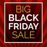 Fundo grande preto do conceito da venda de sexta-feira, estilo dos desenhos animados ilustração royalty free
