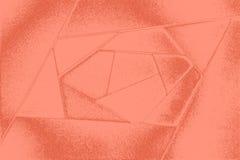 Fundo granulado geométrico abstrato em tons vermelhos das folhas do papel cor-de-rosa grosso, cartão Imagem de Stock Royalty Free