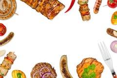 Fundo grelhado do alimento fotos de stock royalty free