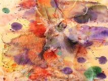 Fundo - Grunge - cervos Imagens de Stock