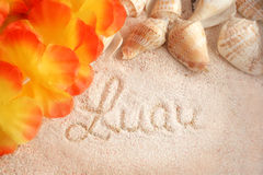 Fundo havaiano da praia Fotografia de Stock Royalty Free