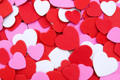 Fundo Heart-shaped do confetti Fotografia de Stock