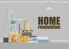 Fundo home da renovação ilustração royalty free