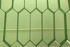 Fundo horizontal de um close-up de uma grelha verde do metal fotos de stock