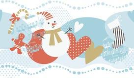 Fundo horizontal do Natal ilustração do vetor