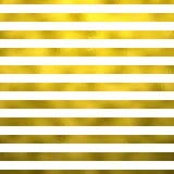 Fundo horizontal metálico do branco das listras da folha do falso do ouro ilustração stock