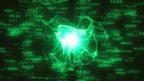 Fundo hyperspace do movimento da tecnologia abstrata com voo de elementos digitais ilustração do vetor