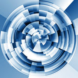 Fundo ilustrado da tecnologia conceito abstrato Imagens de Stock Royalty Free
