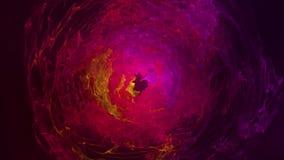 Fundo impetuoso abstrato da esfera com contexto de roda luminoso Esfera de incandescência Quadro redondo do brilho com círculos c ilustração royalty free