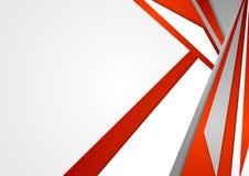 Fundo incorporado abstrato do vetor vermelho e cinzento ilustração stock