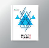 Fundo incorporado do polígono triangular geométrico abstrato para o cartaz do inseto do folheto da capa do livro do informe anual ilustração royalty free