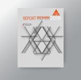 Fundo incorporado do polígono triangular geométrico abstrato para o cartaz do inseto do folheto da capa do livro do informe anual ilustração do vetor