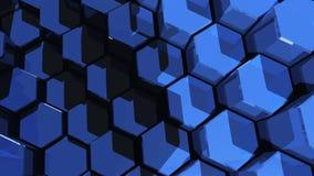 Fundo incorporado dos hexágonos que move 2 vídeos de arquivo