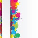 Fundo indiano do festival com respingo das cores Imagens de Stock