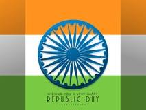 Fundo indiano feliz do dia da república com bandeira Foto de Stock Royalty Free