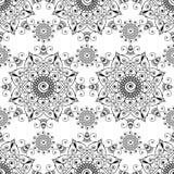 Fundo indiano sem emenda com artigos florais da decoração do buta do laço da hena do mehndi no fundo branco Fotos de Stock Royalty Free
