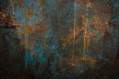 Fundo industrial com oxidação na placa velha do ferro Imagem de Stock