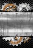 Fundo industrial do metal das engrenagens ilustração royalty free