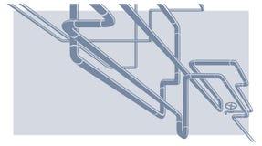 Fundo industrial do vetor com construção do encanamento ilustração stock