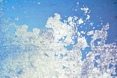 Fundo industrial Textured - pintura da casca na superfície metálica do grunge Fotos de Stock Royalty Free