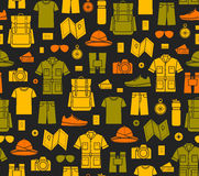 Fundo infinito dos ícones do safari Imagem de Stock Royalty Free
