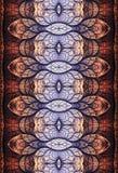 Fundo infinito intermediário gerado por computador artístico original da arte finala dos testes padrões dos fractals 3d do sumári ilustração stock